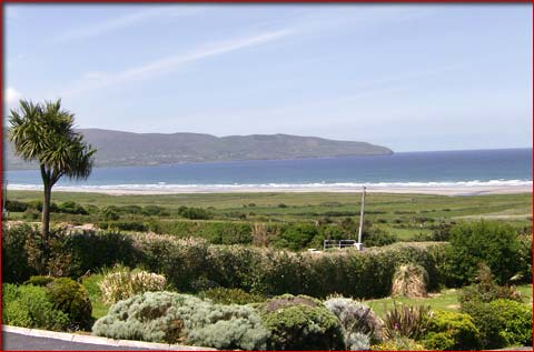 View from Beenoskee bed and breakfast accommodation in County Kerry on the Dingal Peninsula