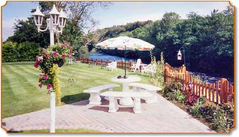 crystal springs, killarney - garden and river