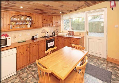Kitchen in the Woodlands rental accommodation in Loughglynn, County Roscommon.